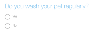 Do you wash your pet regularly?